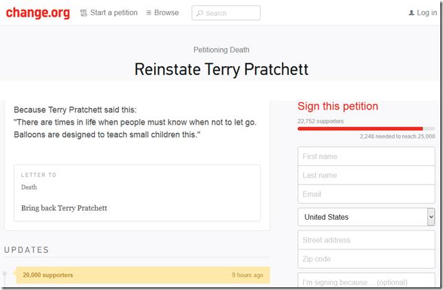 pratchett petition